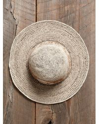 Free People - Natural Vintage Woven Hat with Animals - Lyst