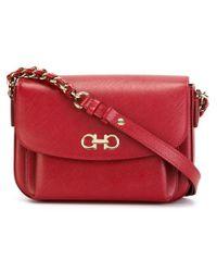 Ferragamo - Red 'sandrine' Shoulder Bag - Lyst