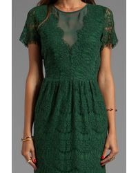 Dolce Vita - Saurus Eyelash Lace Dress in Green - Lyst