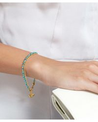 Astley Clarke - Metallic Gold-plated Apatite Ginkgo Biography White Sapphire Bracelet - Lyst