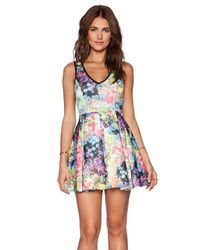 Lucca Couture - Multicolor Fit And Flare Dress - Lyst