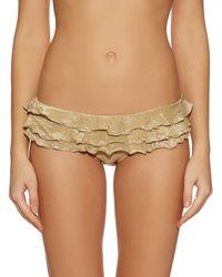 OndadeMar | Metallic Ruffled Bikini Briefs | Lyst
