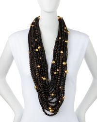 Viktoria Hayman | Black Multi-strand Beaded Statement Necklace for Men | Lyst