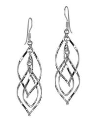 Aeravida | Gray 50mm Gracious Swirling Infinity .925 Steling Silver Earrings | Lyst