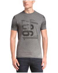 BOSS Green - Gray 'tee 7' | Cotton Digital Print T-shirt for Men - Lyst
