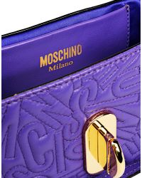 Moschino - Purple Small Leather Bag - Lyst