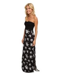 Hurley - Black Tomboy Maxi Strapless Dress - Lyst