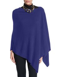 Eileen Fisher | Blue Fine Merino Links Poncho | Lyst