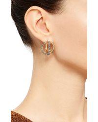 Noor Fares - Metallic Merkaba Creoles Earrings - Lyst