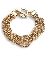 Anne Klein | Metallic Gold-Tone Multi-Strand Bracelet | Lyst