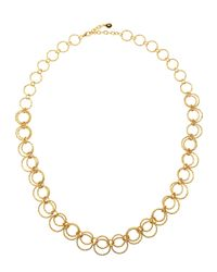 R.j. Graziano | Metallic Golden Circle-chain Necklace | Lyst