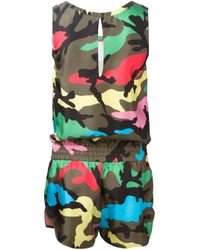 Valentino | Green Camouflage Playsuit Cover-up | Lyst