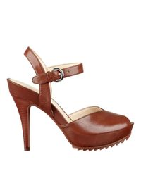 Nine West | Brown Ratical Platform Sandals | Lyst