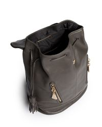 See By Chloé - Gray 'cherry' Leather Bucket Backpack - Lyst