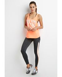 Forever 21 - Pink Finish Line Athletic Tank - Lyst