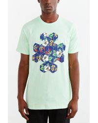 Urban Outfitters - Green Tropical Cubes Tee for Men - Lyst