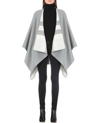 Burberry | Gray Solid Check Cape | Lyst
