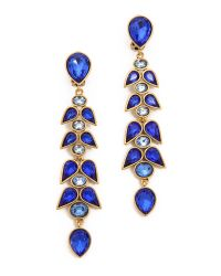 Oscar de la Renta - Blue Wisteria Clip On Earrings Ocean - Lyst