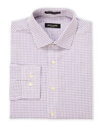 Pierre Cardin | Purple & White Check Slim Fit Dress Shirt for Men | Lyst