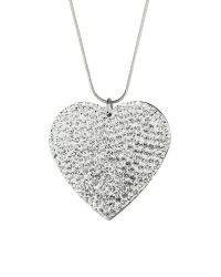 Mikey | Metallic Flat Heart Necklace | Lyst