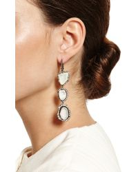 Kimberly Mcdonald | One Of A Kind Triple White Geode and Graduated To Irregular Diamond Lever Back Earrings | Lyst