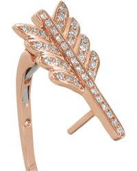 Anita Ko - Metallic Arrow 18-Karat Rose Gold Diamond Earring - Lyst