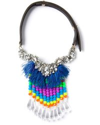 P.A.R.O.S.H. | Blue Tassel Necklace | Lyst