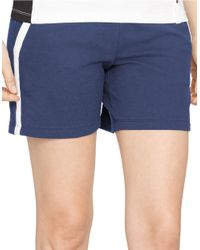 Lauren by Ralph Lauren | Blue Drawstring Active Shorts | Lyst