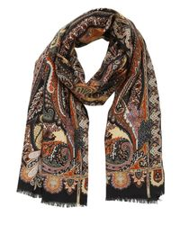 Etro | Multicolor Delhi Wool & Silk Blend Scarf | Lyst