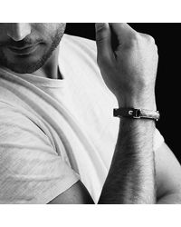 David Yurman | Metallic Meteorite Leather Id Bracelet for Men | Lyst