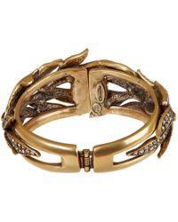 Oscar de la Renta - Metallic Gold-Tone Pave Spike Bracelet - Lyst