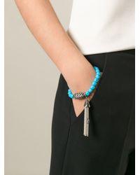 Loree Rodkin - Blue Diamond And Turquoise Beaded Bracelet - Lyst