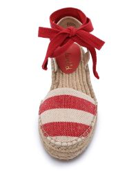 Splendid | Eveleigh Striped Espadrilles - Red | Lyst