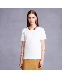 Trademark | White Spring Collar T-shirt | Lyst