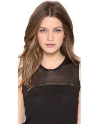 Ginette NY - Metallic Mini Bow Necklace - Lyst