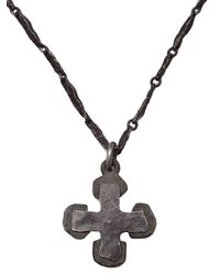 Brevard - Black Cross Necklace - Lyst