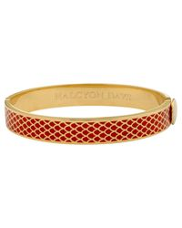 Halcyon Days | Red 18ct Gold Plated Enamel Salamander Bangle | Lyst