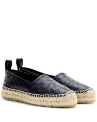 Balenciaga - Black Leather Espadrilles - Lyst