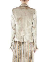 Galvan London - Gray Notch-Lapel Velvet Jacket - Lyst