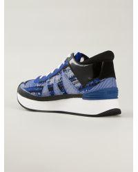KENZO | Blue 'White Noise' Sneakers | Lyst