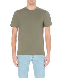 American Apparel - Green Crew-neck Plain Cotton T-shirt - For Men for Men - Lyst