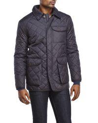 Hart Schaffner Marx - Blue Diamond Quilted Zip Jacket for Men - Lyst