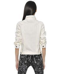 Proenza Schouler | White Cotton Denim Jacket | Lyst