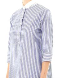 Thierry Colson | Blue Cecile Stripe Cotton Shirt Dress | Lyst
