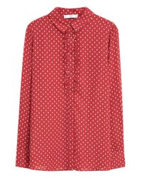 Mango | Red Polka-dot Print Shirt | Lyst