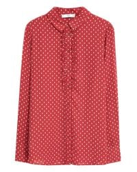 Mango - Red Polka-dot Print Shirt - Lyst