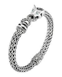John Hardy | Metallic Classic Chain Silver Medium Macan Bracelet | Lyst