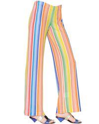 Missoni | Multicolor Vertical Stripes Viscose Knit Pants | Lyst