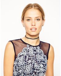 ASOS - Multicolor Faceted Bead Choker Necklace - Lyst