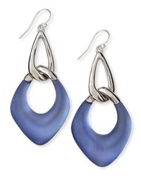Alexis Bittar - Sky Blue Liquid Metal Lucite Drop Earrings - Lyst